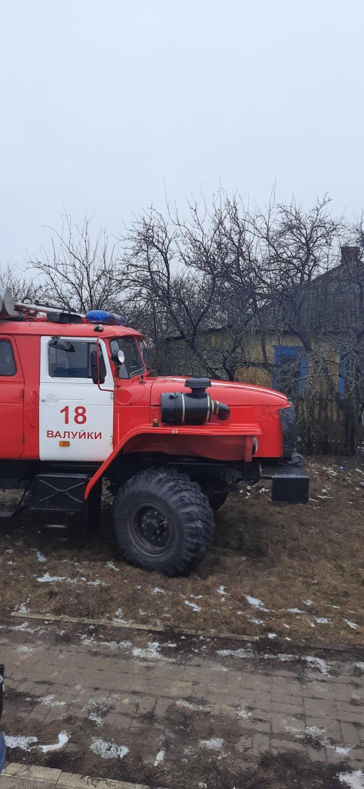 Пожар ликвидирован до прибытия пожарных подразделений в селе Солоти Валуйского ГО