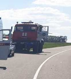 Спасатели МЧС России приняли участие в ликвидации ДТП на автодороге «Хитрово – Баклановка» Чернянского района