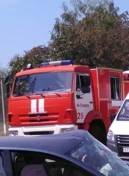 Спасатели МЧС России приняли участие в ликвидации ДТП в Новооскольском городском округе