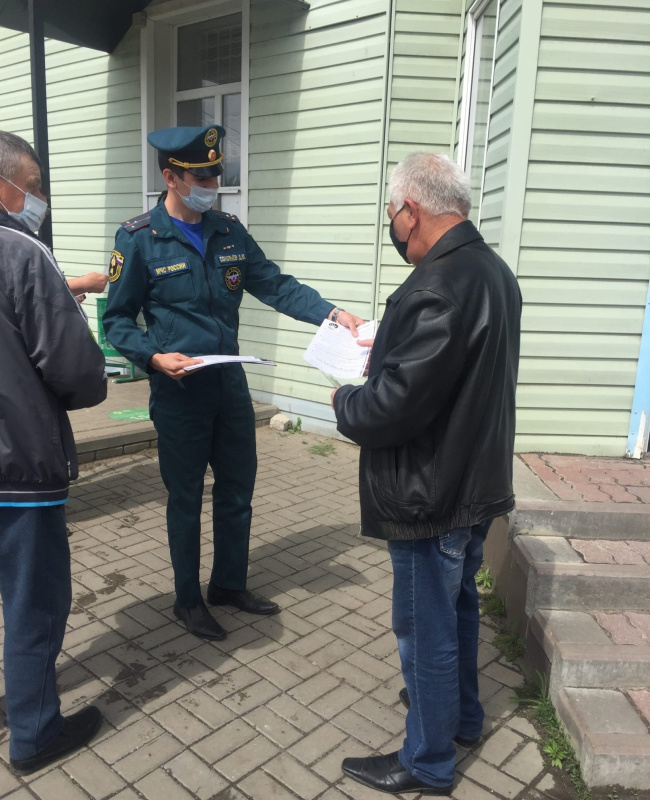 О правилах пожарной безопасности рассказали сотрудники МЧС России